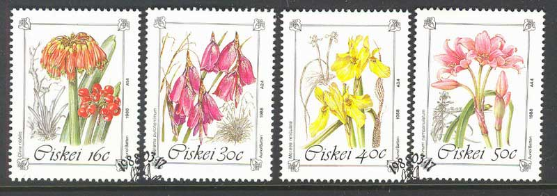 Ciskei 1988 Endangered Flowers FU Lot12111