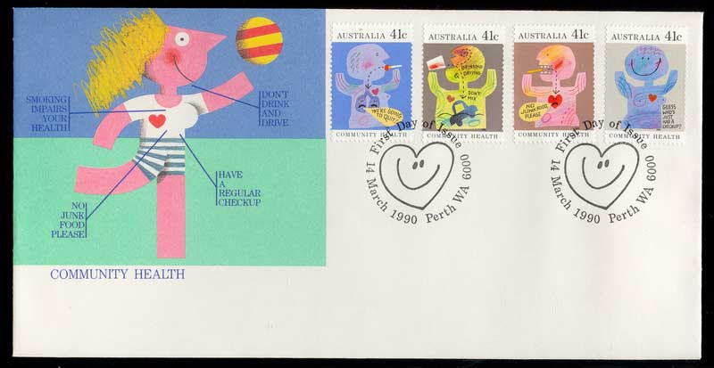 Australia 1990 Community Health FDC Lot12352