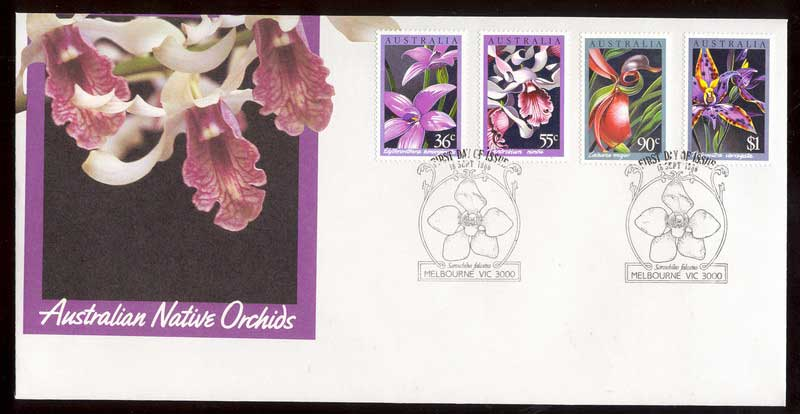Australia 1986 Orchids Flowers FDC Lot12457