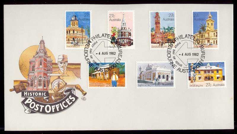 Australia 1982 Post Offices FDC Lot12543