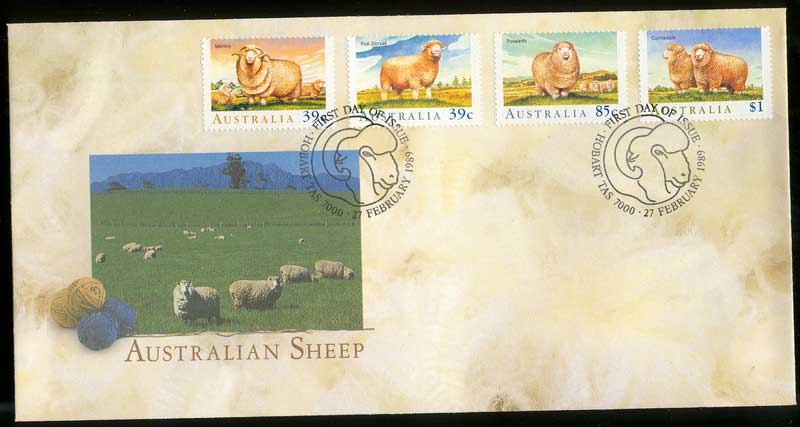 Australia 1989 Sheep FDC Lot12561