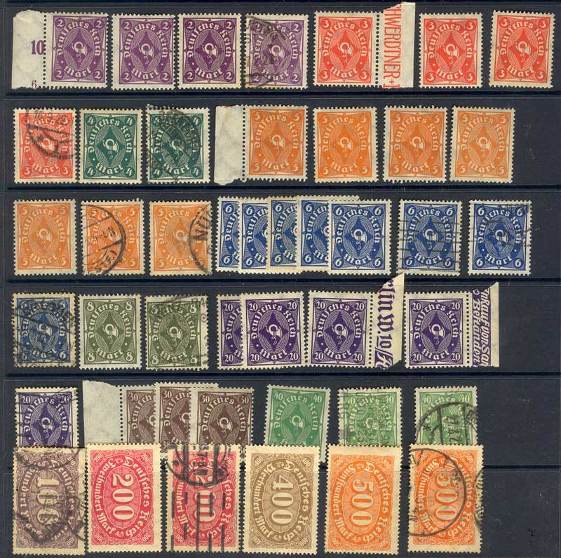 Germany Reich 1922 Posthorn Asst FU/ MH Lot12588