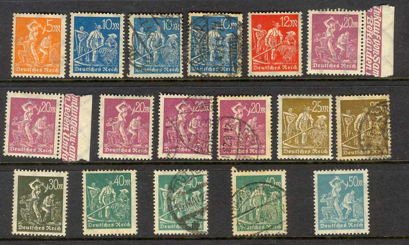 Germany Reich 1923 Trades Asst FU/ MH Lot12589
