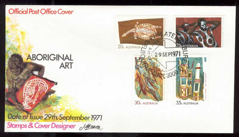 Australia 1971 Aboriginal Art FDC Lot13404