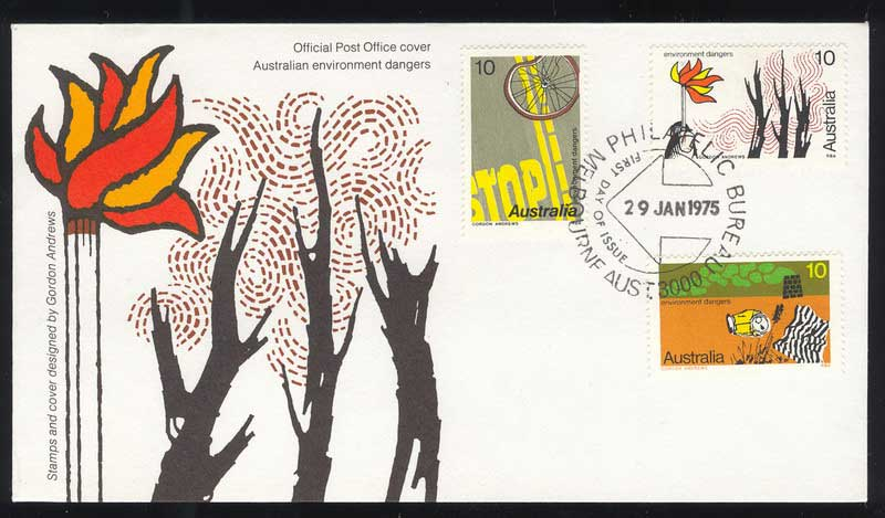 Australia 1975 Envionments FDC Lot13523