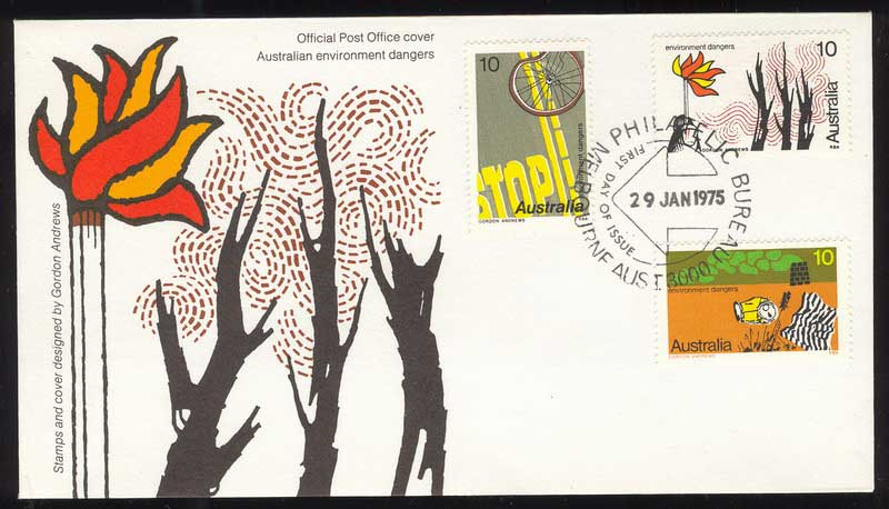 Australia 1975 Envionments FDC Lot13524