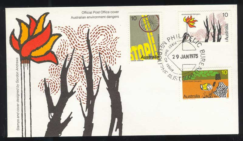 Australia 1975 Envionments FDC Lot13525