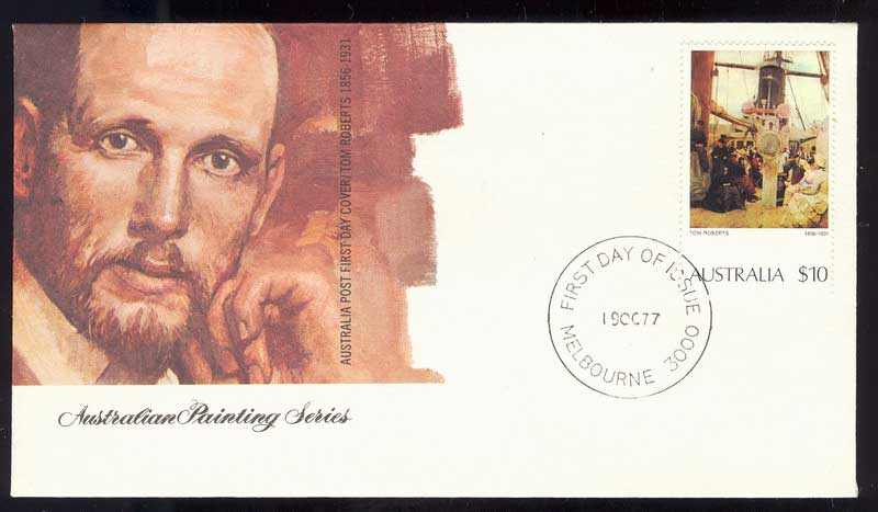 Australia 1977 $10 Painting FDC Lot13536