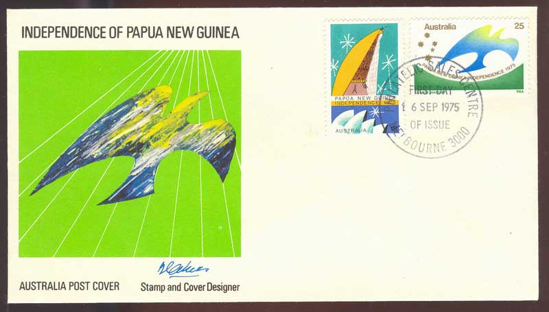 Australia 1975 PNG Independence FDC Lot13554
