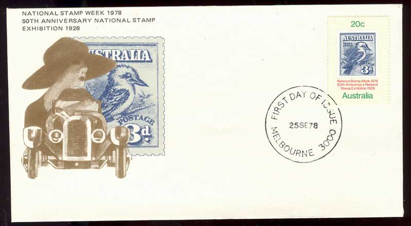 Australia 1978 Stamp Week FDC Lot13587