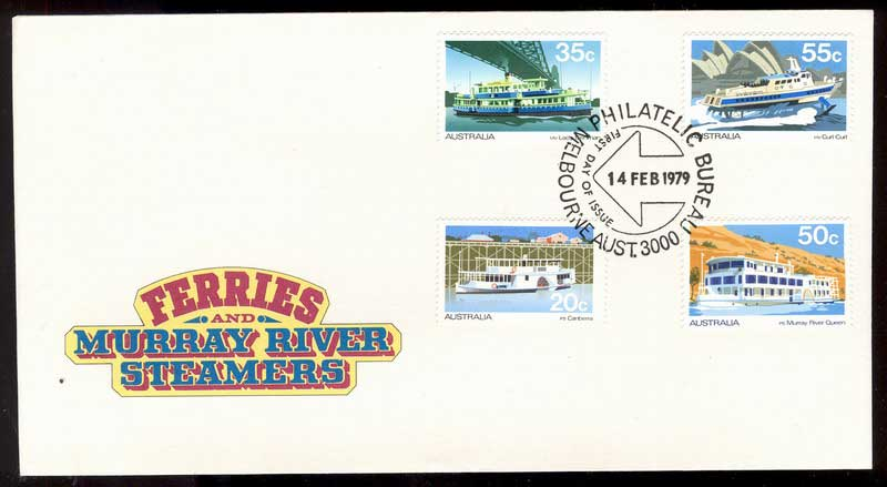 Australia 1979 Ferries & Steamers FDC Lot13615