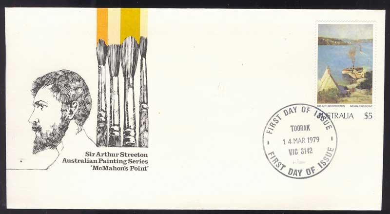 Australia 1979 $5 Painting FDC Lot13626