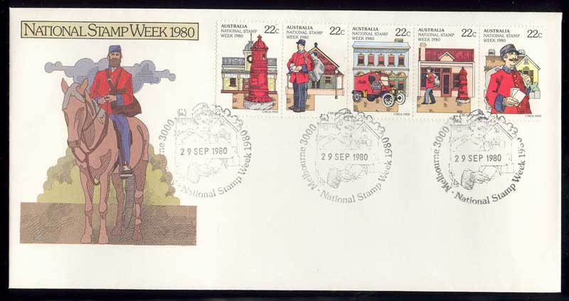 Australia 1980 Stamp Week, Melbourne Stamp Week FDC Lot13644