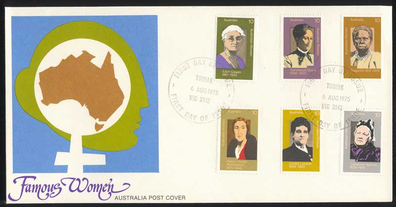 Australia 1975 Famous Women FDC Lot13650
