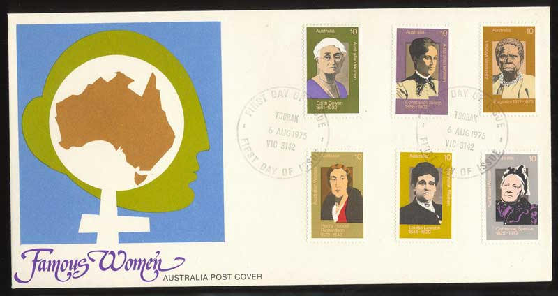 Australia 1975 Famous Women FDC Lot13651