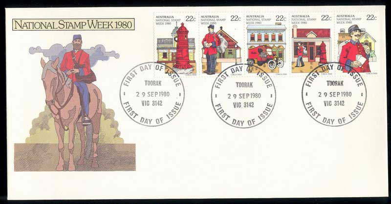 Australia 1980 Stamp Week, Toorak FDC Lot13678