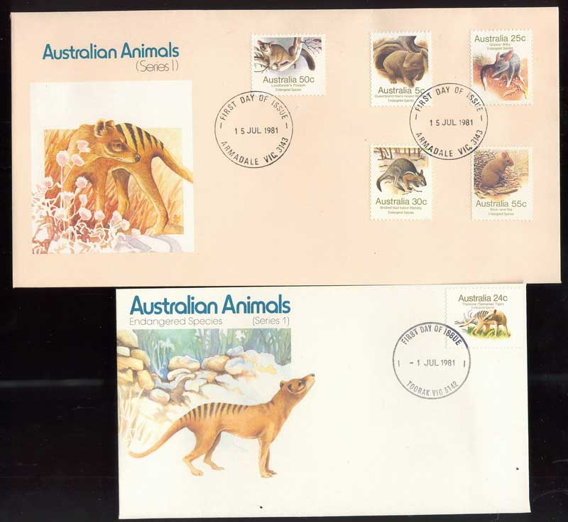Australia 1981 Australian Animals I (2) FDC Lot13708