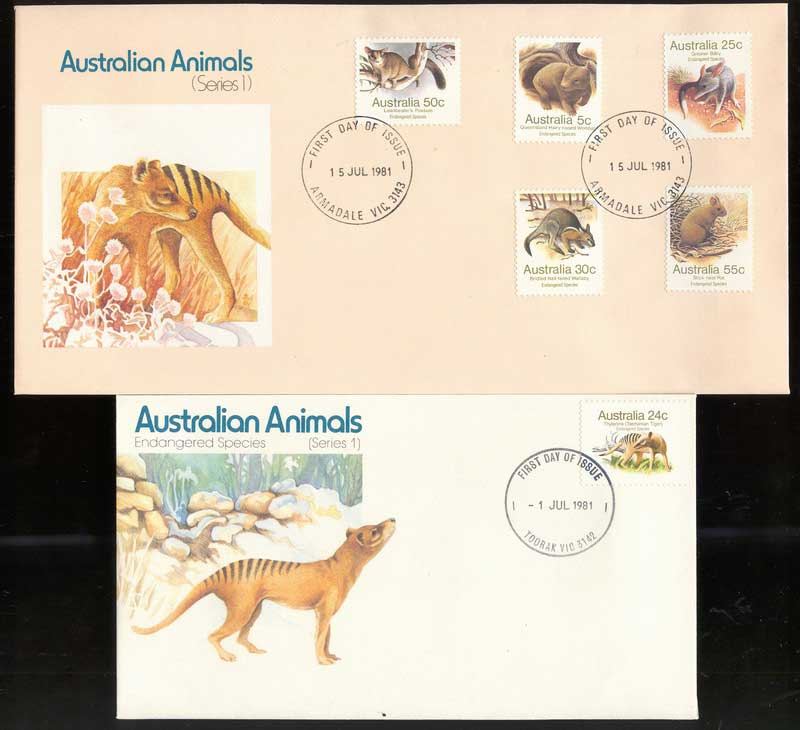 Australia 1981 Australian Animals I (2) FDC Lot13709