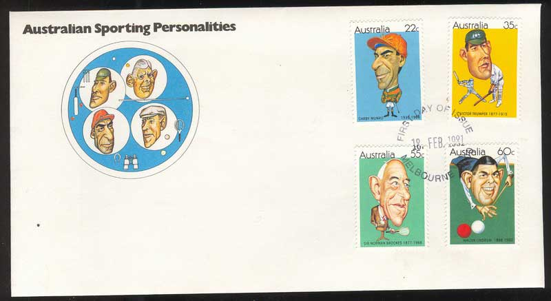 Australia 1981 Sporting Personalities FDC Lot13711