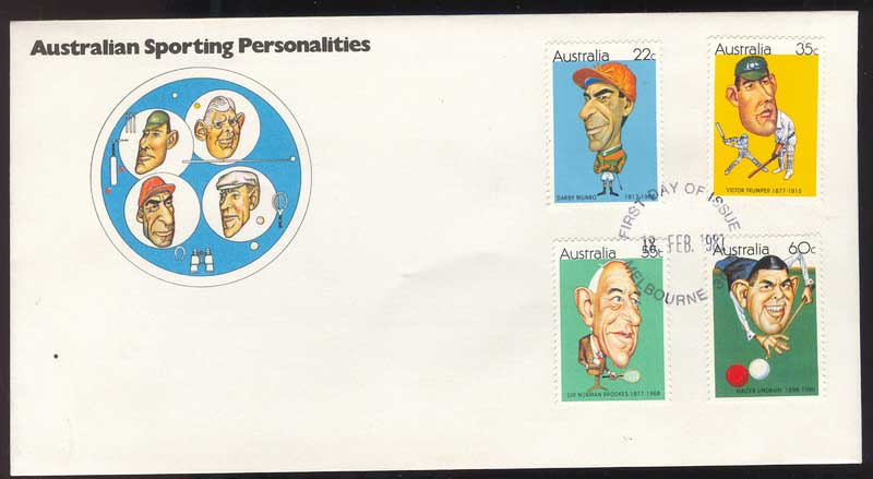 Australia 1981 Sporting Personalities FDC Lot13720
