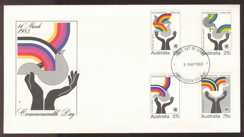 Australia 1983 Commonwealth Day, Hawksburn FDC Lot13756
