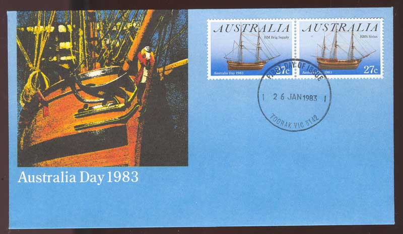 Australia 1983 Australia Day FDC Lot13761