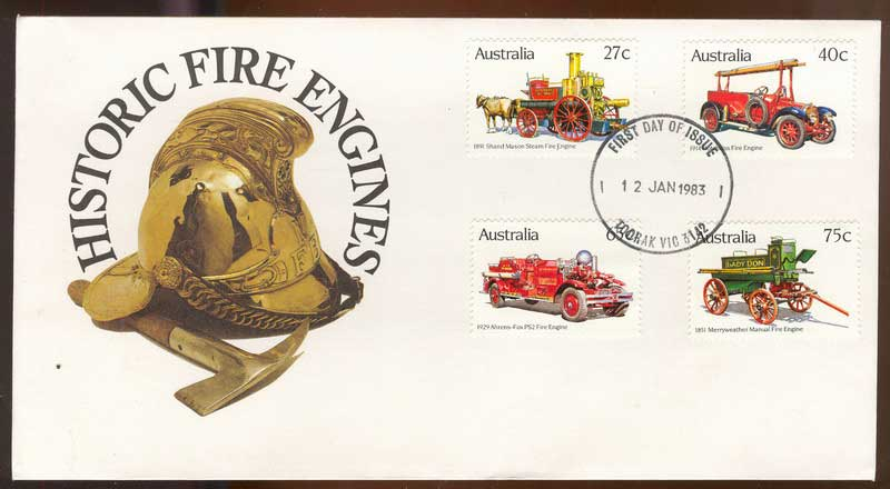 Australia 1983 Fire Engines FDC Lot13794