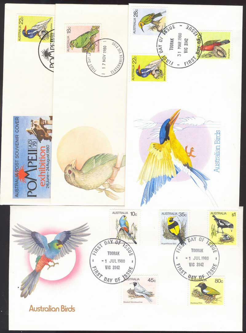 Australia 1983 Birds FDC (4) Lot13977