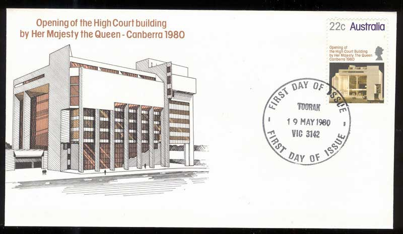 Australia 1980 High Court, Toorak FDC Lot14006