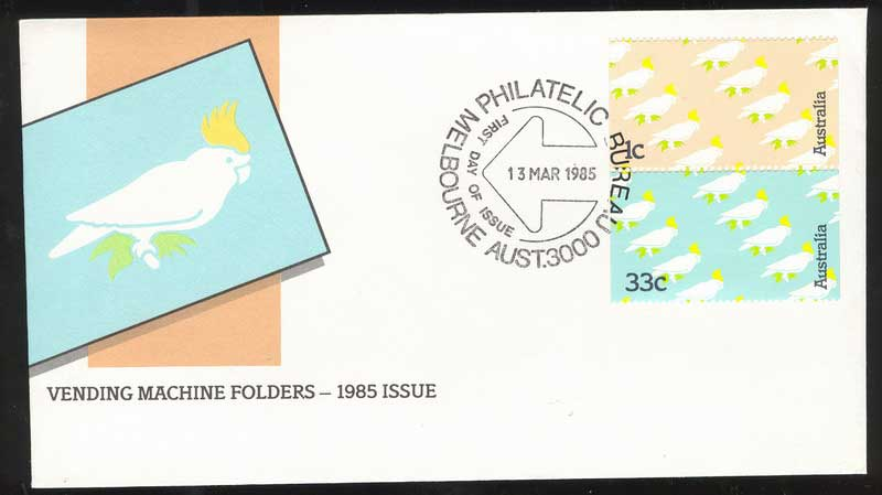 Australia 1985 1c,33c Cockatoo FDC Lot14030