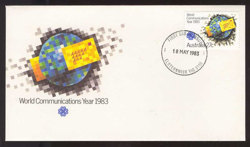 Australia 1983 World Communications FDC Lot14093
