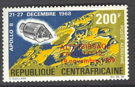 Central African Republic 1970 Apollo 12 Opt MLH Lot14375