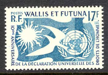Wallis & Futuna 1958 Human Rights MLH Lot14387