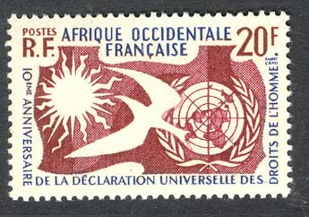 French West Africa 1958 Human Rights MUH Lot14430
