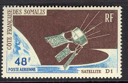 French Somali Coast 1966 D1 Satellite MLH Lot14609