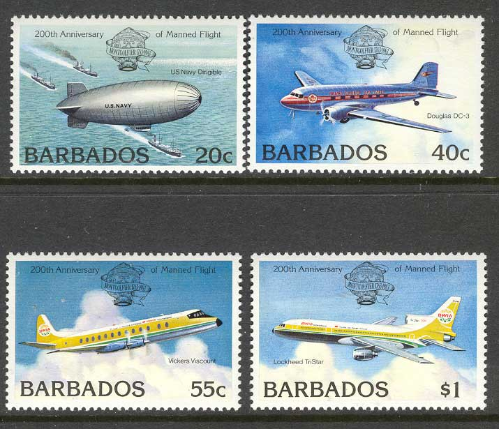 Barbados 1983 Flight Bicentenary MUH 14663
