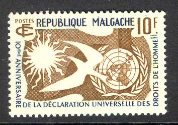 Malagasy Rep 1958 Human Rights MUH Lot14710