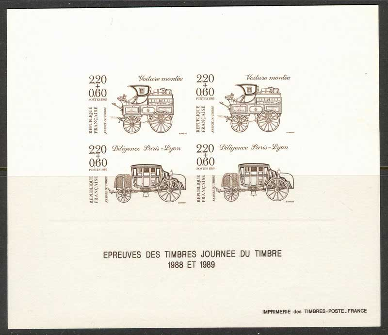 France 1989 Carriages Yv#2525 Proof Lot14743