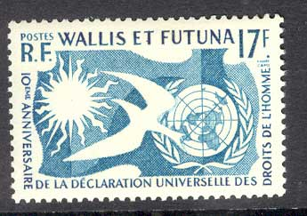 Wallis & Futuna 1963 Human Rights MUH Lot14760