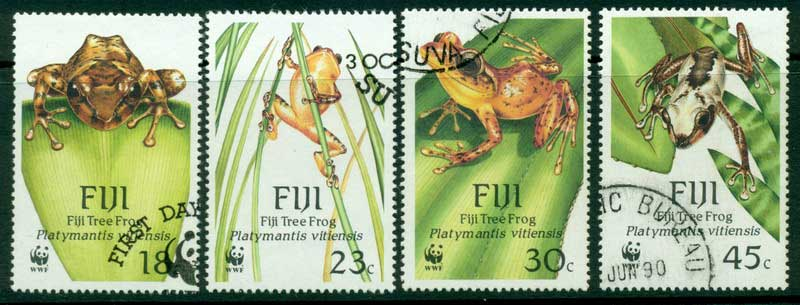 Fiji 1988 WWF Tree Frogs FU Lot14960