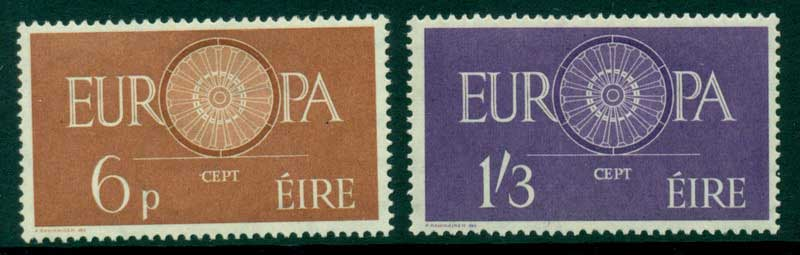 Ireland 1960 6d MLH, 1/3d Europa MUH Lot15289