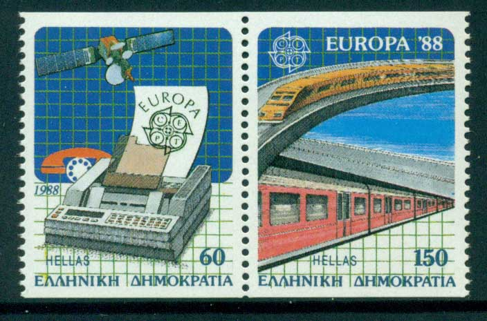 Greece 1988 Europa Booklet Pair MUH Lot15417