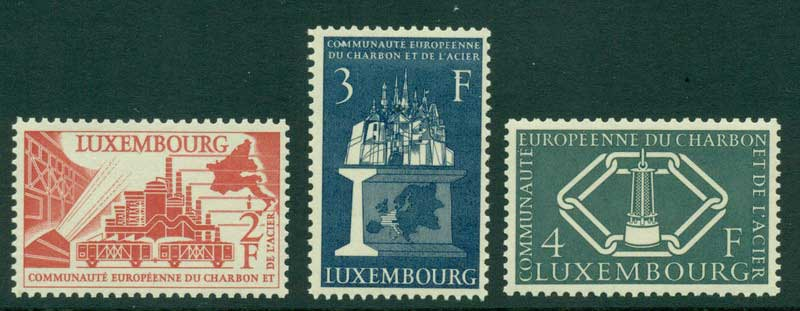 Luxembourg 1956 Coal & Steel MUH Lot15419