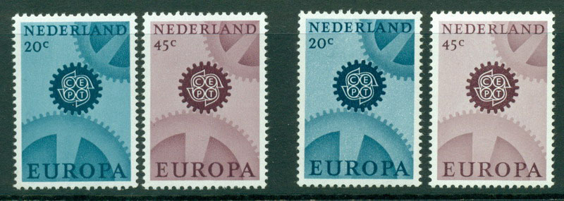 Netherlands 1967 Europa Wmk & No Wmk MUH Lot15577