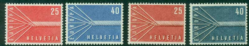 Switzerland 1957 Europa shades MUH Lot15633