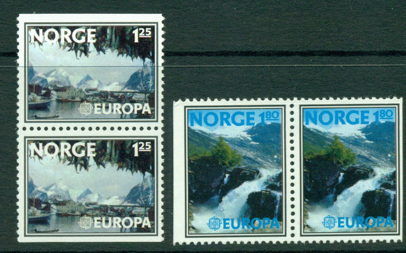 Norway 1977 Europa Pairs MUH Lot15824