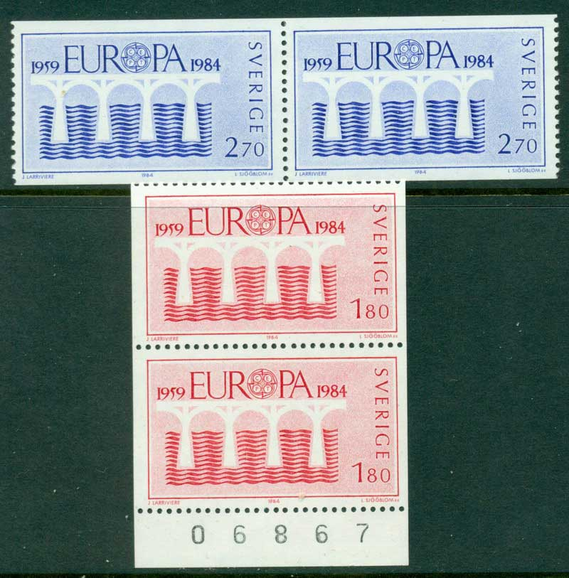 Sweden 1984 Europa Pair MUH Lot15913