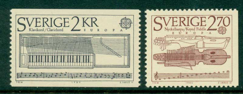 Sweden 1985 Europa Pair MUH Lot15914