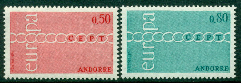 Andorra (Fr) 1971 Europa MUH Lot16006 - Click Image to Close