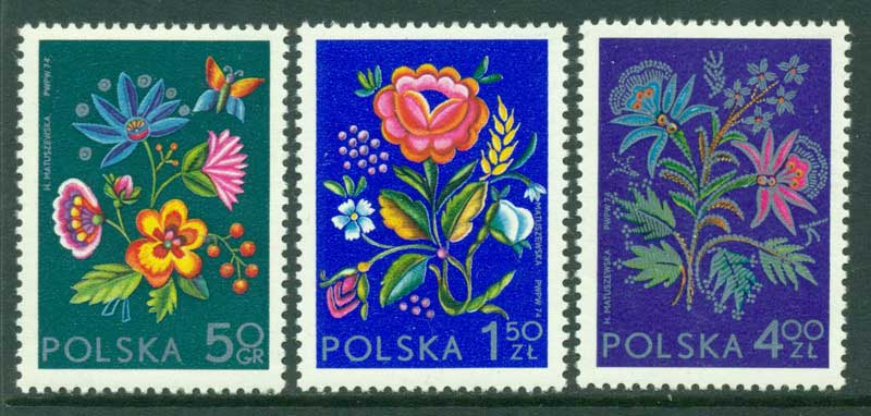 Poland 1974 Embroidery MUH Lot16114